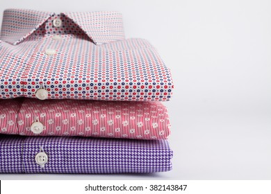 Classic men's shirts stacked