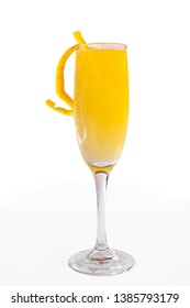Classic Mimosa on white background