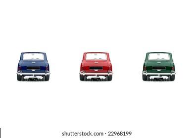 Classic mini model back view 3 color