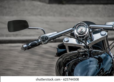 Classic motorbike at an biker meeting in german town