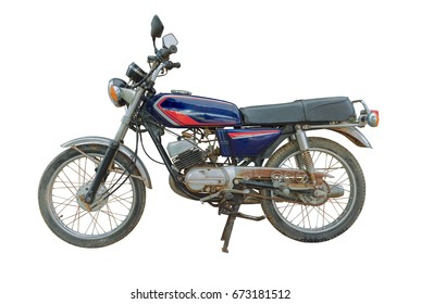 Classic Motorbike on white background , old  Motorbike