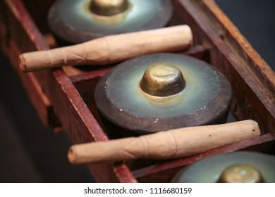 Classic musical gongs.