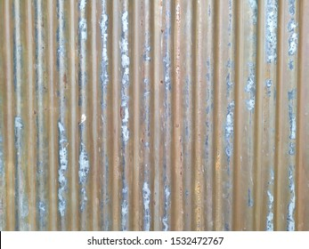 Classic old zinc sheet with rust stains.