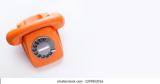 Classic orange telephone
