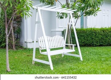 classic outdoor garden wooden hanging chair