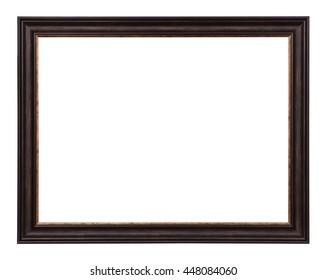 Classic photo frame blank on white background.