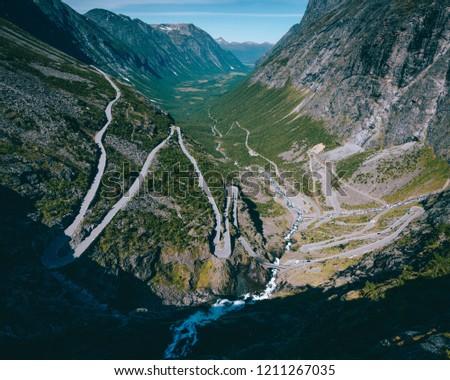 Classic Photo Trollstigen Norway Pure Mass Stock Photo (Edit