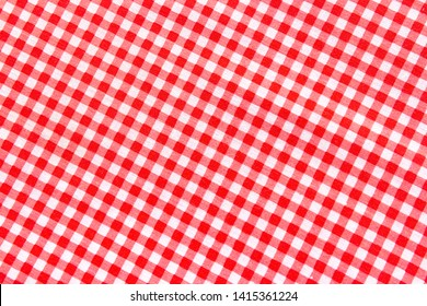 Classic pink plaid fabric or tablecloth background