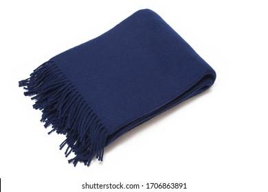 Classic plaid dark blue isolated on white background