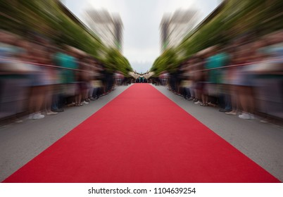 classic red carpet over street  classic red carpet over street