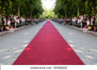 classic red carpet over street
