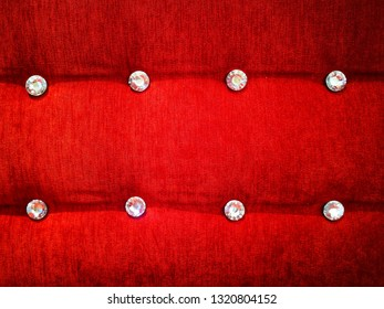 Classic red leather sofa