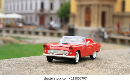 Classic red toy car