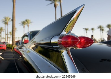 Classic retro 50's chrome car tail fin