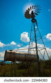 Classic retro Farm Windmill