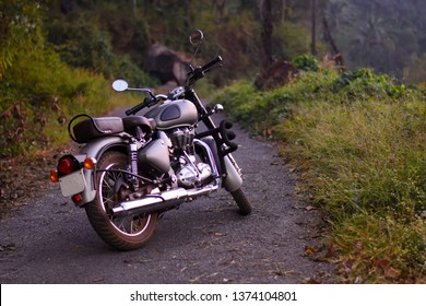 Royal Enfield Hd Stock Images Shutterstock Tako dolazi i royal enfield. https www shutterstock com image photo classic royal enfield motorbike parked road 1374104801