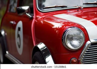Classic Rracing Mini Cooper Detail
