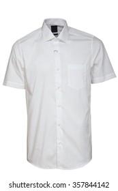 classic short sleeve white shirt