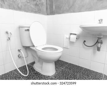 classic simple bathroom interior in Thailand