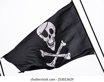 Classic skull and crossbones flag.