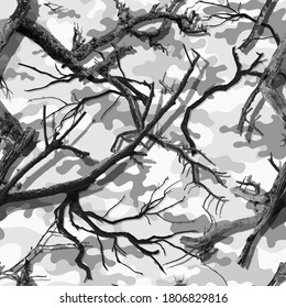 CLASSIC SNOW CAMOUFLAGE SEAMLESS PATTERN
