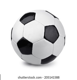 Classic soccer ball isolated on white