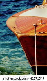Classic speed boat bow
