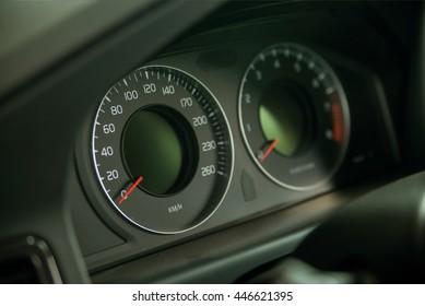 Classic speedometer of car