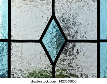 Classic stained glass window, waters crystal background