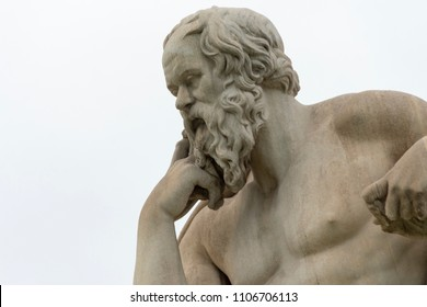classic statue of Socrates close up