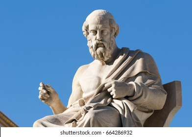 classic statues Plato sitting