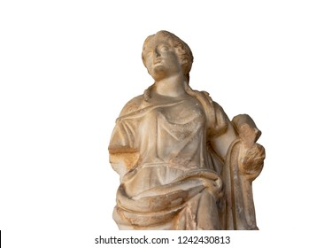 Classic stone statue isolated on white background
