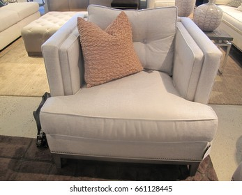 Classic style sofa with pillows