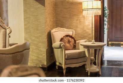Classic styled armchair in restaurant interior4