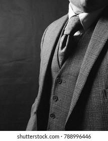 Classic suited businessman