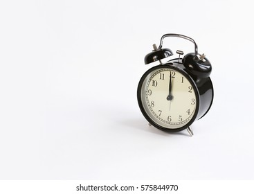 classic table clock on a white background. interior Features