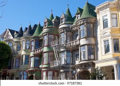 Classic victorian houses in San Francisco