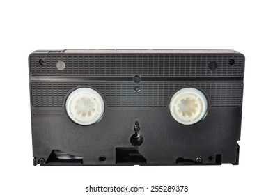 Classic Video tape isolated on white background, clipping path included.