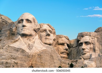 Classic view of Mount Rushmore