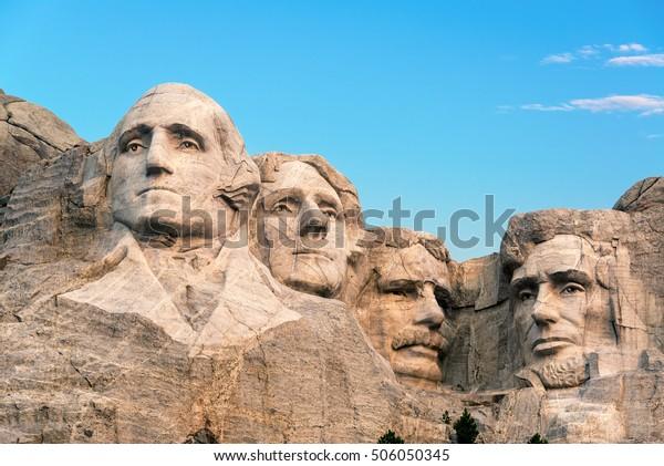 Klassische Sicht auf den Berg Rushmore