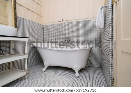 Classic Vintage Bath Tub Colonial Style Stock Photo (Edit Now ...