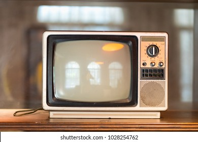 Classic Vintage Retro Style old television with decoration in room