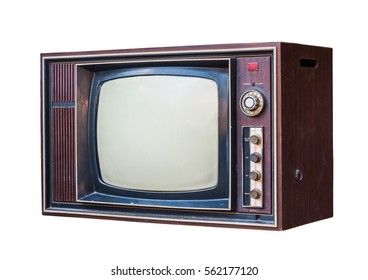 Classic Vintage Retro Style old  television,old  television on  isolated background.