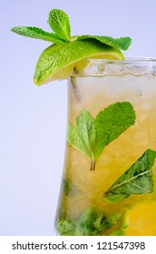 Classic Virgin Mojito summer drink with alcohol with lime