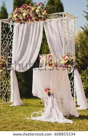 Classic Wedding Decor Stock Photo Edit Now 608855534 Shutterstock