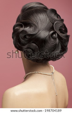 Classic Wedding Hairstyle Beautiful Bridal Hairdo Stock Photo Edit