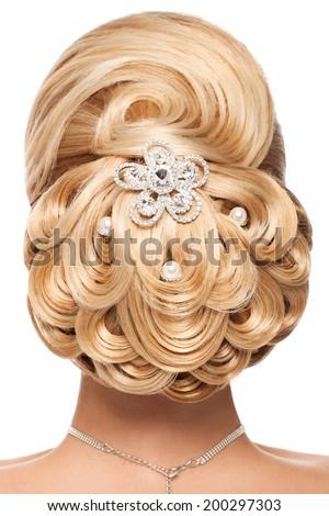 Classic Wedding Hairstyle Beautiful Bridal Hairdo Stock Photo Edit