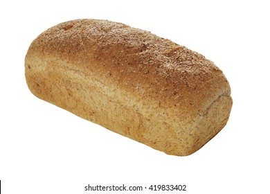 Classic Whole Wheat Loaf isolated on white