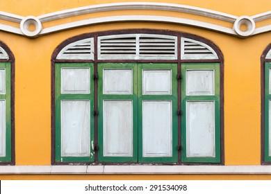 Classic windows Chino-Portuguese style