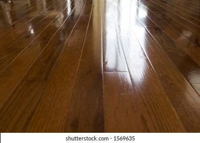 classic wood flooring wide view